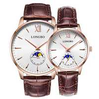 LONGBO 5008 The Sun The Moon The Stars Quartz Watch