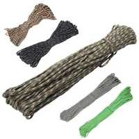 IPRee® 100FT 550lb Mix-color Nylon Parachute Cord String Rope Outdoor Camping Hiking Tools