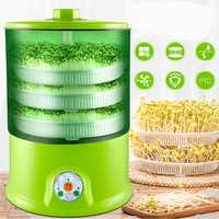 Homemade Multifunctional Bean Sprouts Machine 220V Automatic1.5L 3-layers Sprouts Machine