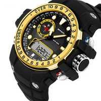 SANDA 399 Calendar Luminous Alarm Dual Display Digital Watch