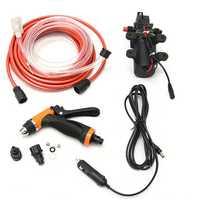 12V Portable 100W 160PSI High Pressure Car Electric Washer Auto Wash Pump Set Tool