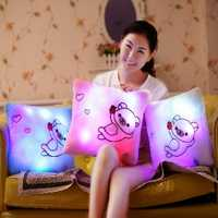 Honana Luminous Pillow Christmas Toys Led Light Plush Funny Pillow Colorful Kids Toys Birthday Gift