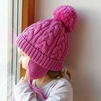 Children Boys Girls Winter Warm Knitted Beanies Hat