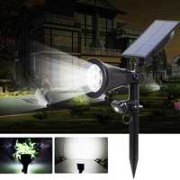 Solar Powered 7 LED PIR Motion Sensor Lawn Light Outdoor Waterproof Yard Wall Landscape Lamp