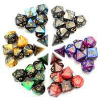 ECUBEE 42 Pcs Polyhedral Dice Double-Color For Role Pliaying Game Dice Set With Bag