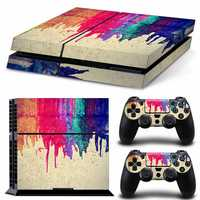 Vinyl Decal Skin Sticker Set For PS4 For Sony For Play Station 4 Console 2 Controller