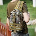 Meilleur prix Men Multifunction Tactical Backpack Casual Sling Crossbody Bag Shoulder Bag Chest Bag For Outdoor