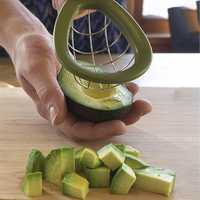 Avocado Slicer Cuber Tool Fruit Slicing Tools Melon Cutter Dice & Cube Avocados with Ease Kitchen Gadgets Vegetable Cutter