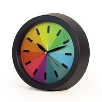 Creative Silence Rainbow Colorful Alarm Desk Modern Office Gift Bedroom Mute Fashion Hanging Clock