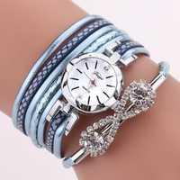 DUOYA D258 Retro Style Bow Crystal Women Bracelet Watch