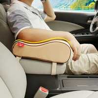 Universal Breathable Memory Foam Car Seat Cushion Armrest Center Console Rest Pillow Pad Supports