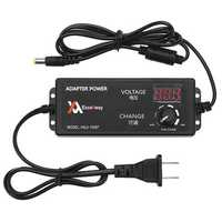 Excellway 4-24V 2.5A 60W AC/DC Adjustable Power Adapter Supply US Plug Speed Control Volt Display