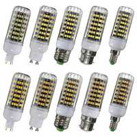 E14 E27 B22 G9 G10 10W 123 SMD 2835 LED Cover Corn Light Lamp Bulb AC 220V