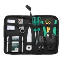 9pcs Cat5 RJ45 RJ11 RJ12 LAN Network Tool Kit Crimper Stripper Network Cable Tester Crimping Kit