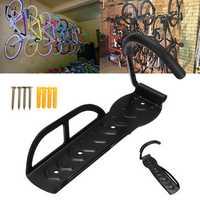 BIKIGHT Bicycle Wall Hanging Rack Hook Garage Storage Stand Mount Bike Hanger Space Save Max Load 30kg
