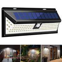 1200LM 120 LED 3 Modes Solar Power PIR Motion Sensor Wall Light Outdoor Waterproof IP65
