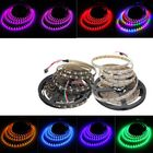 Acheter 5M 90W 300SMD WS2812B LED RGB Colorful Strip Light Waterproof IP65 White/Black PCB DC5V