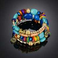 Retro Turquoise Winding Bracelet