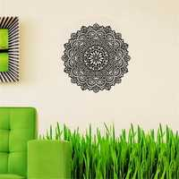 59X59CM Removable Mandala Flower Wall Stickers Vinyl Mandala Pattern PVC Wall Stickers