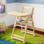 Meilleurs prix 6 Months Children Dining Chair Baby Chair With 4 Wheels 4 Gear Height Adjustment