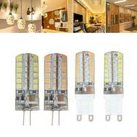G9 G4 7W 48 SMD 2835 LED Warm White White Corn Light Lamp Bulb AC 220V