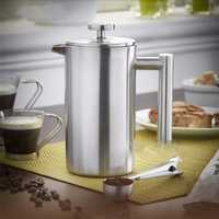 350ml Double Wall Stainless Steel Coffee Plunger French Press Tea Maker Handy Coffee Machine