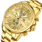 Les plus populaires MINI FOCUS MF0278G Royal Golden Stainless Steel Men Watch