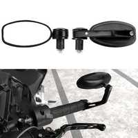 1PC BIKIGHT Aluminum Alloy Bike Handlebar Mirror Adjustable Electric Bike Motorcycle Handle Rear Back Mirror