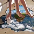 Promotion PAG Multi-pattern Creative 3D Large Removable Wall Sticker Home Floor Decoration