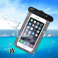 Universal PVC IPX8 Waterproof Clear Tough Screenn Phone Case Under Water Dry Bag Surfing Swimming Bag
