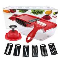 Godmorn Mandoline Slicer Vegetable Cutter Grater Juilienne Slicing Tool with 6 Interchangable Stainless Steel Blade