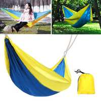 260x145CM Outdoor Double Hammock Portable Parachute Nylon Hanging Swing Bed Travel Camping