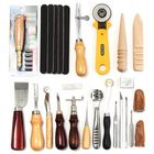 Prix de gros 24 Pcs Leather Craft Tools Kit Hand Sewing Stitching Punch Carving Work Saddle