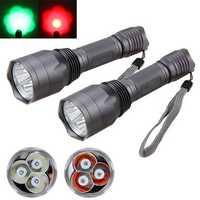 XANES C10 3x T6 960LM Red Light / Green Light Functional Hunting Searching Flashlight