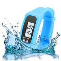 BIKIGHT Outdoor Electronics Sports Watche Digital Utility LED Pedometer Run Step Counter Watch Strap