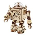 Promotion DIY Model 3D Puzzle Music Box Wooden Craft Kit Robot Machinarium Toys with Light Best Handmade Gift