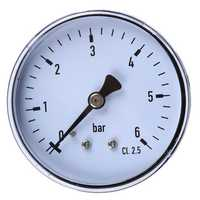 TS-60-6 Mini High Accuracy Pressure Gauge 0-6 bar 1/4 Manometer Pressure Tester For Fuel Air Oil Liquid Water