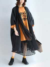Casual Women Loose 3/4 Sleeve V-Neck Bat sleeve Cardigans