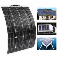 120W 18V Monocrystalline Silicon Semi-flexible Solar Panel Battery Charger W/ MC4 Connector