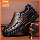Acheter Men Genuine Cow Leather Waterproof Comfy Non Slip Soft Slip On Casual Oxfords