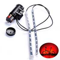 BIKIGHT MTB Bicycle Fork Light Strip Light Bar 12 LED 8 Modes Waterproof Wheel Lamp