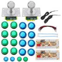 Colorful LED Joystick Push Button USB Encoders Arcade Game Controller DIY Kit