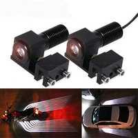 CNSUNNYLIGHT Car/Motorcycle LED Decoration Lights Emergency Signal Wings Lamp Projector Fog Warning