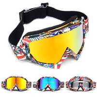 Skiing Goggles Snowboard Ski Eyewear Anti-UV Glasses For Motorcycle Motocross Lens