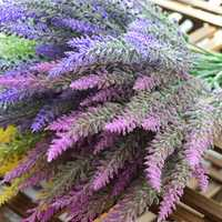 1PCS 25 Heads Romatic Artificial Fake Silk Lavender Flowers Wedding Home Decorative