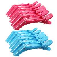 6Pcs Hairdressing Sectioning Clamps Crocodile Hair Clips Hairpin Grip Salon