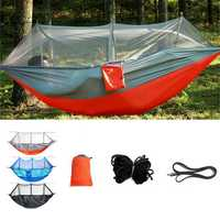 Outdoor Double 2 People Hammock Camping Tent Hanging Swing Bed With Mosquito Net
