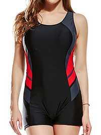 Seamless Padded Sports Slim One Piece Swimsuit