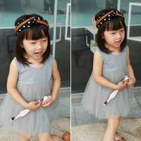 Casual Kid Girls Pure Color Sleeveless Princess Tutu Dresses