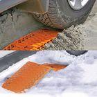 Meilleurs prix Rubber Car Snow Tires Grip Tracks Foldable Skid Plate Chain Universal Orange